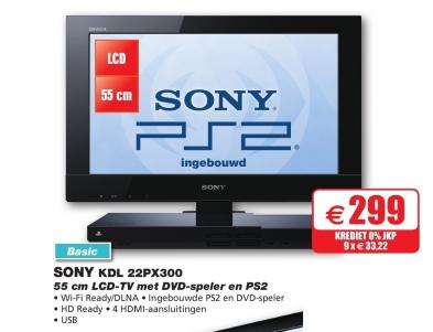 Televisie met ingebouwde PlayStation 2
