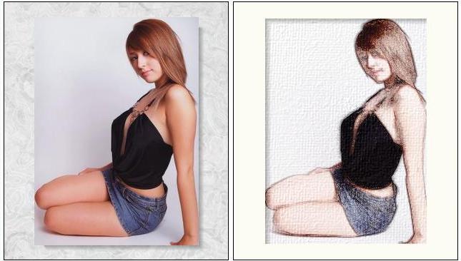 voorbeeld resultaat fotosketcher