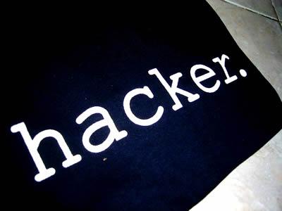 Hacker OM streed met open vizier